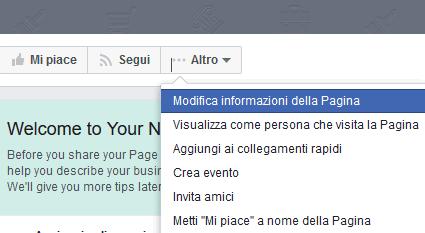 Come rinominare una pagina su Facebook