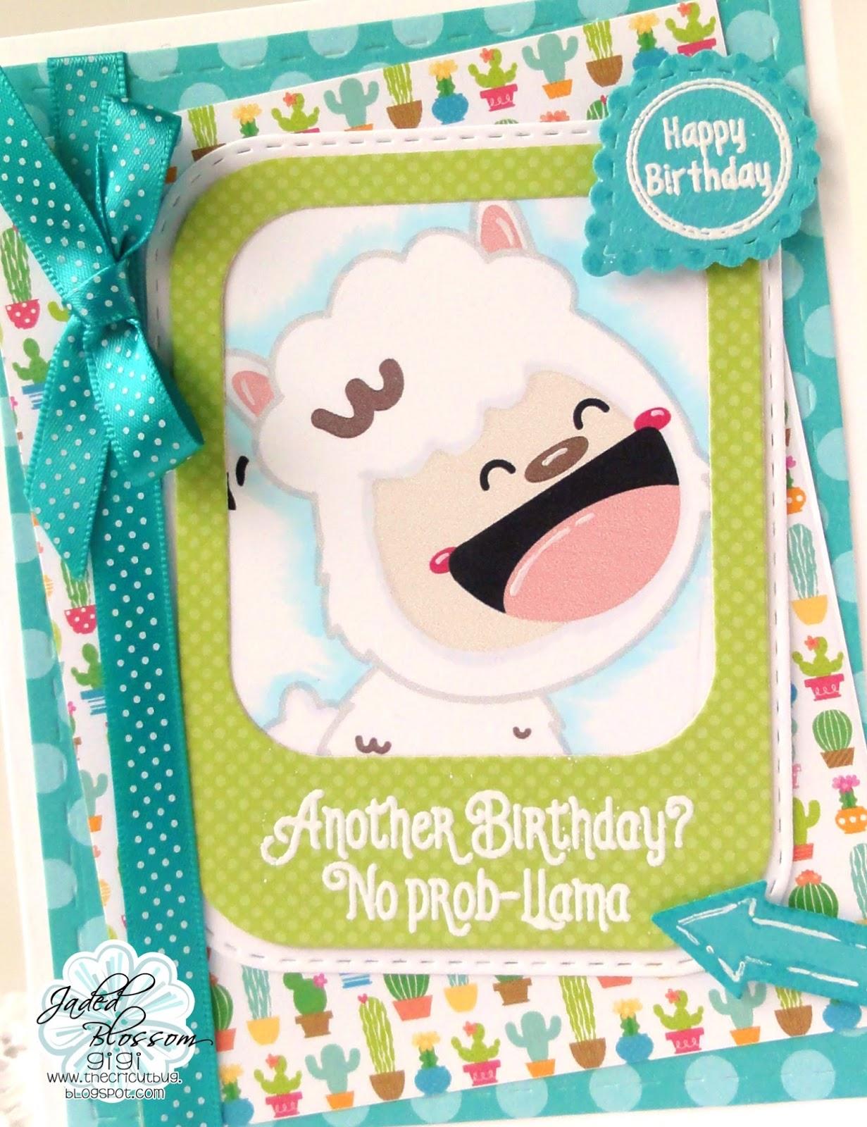 The Cricut Bug Llama Birthday Card