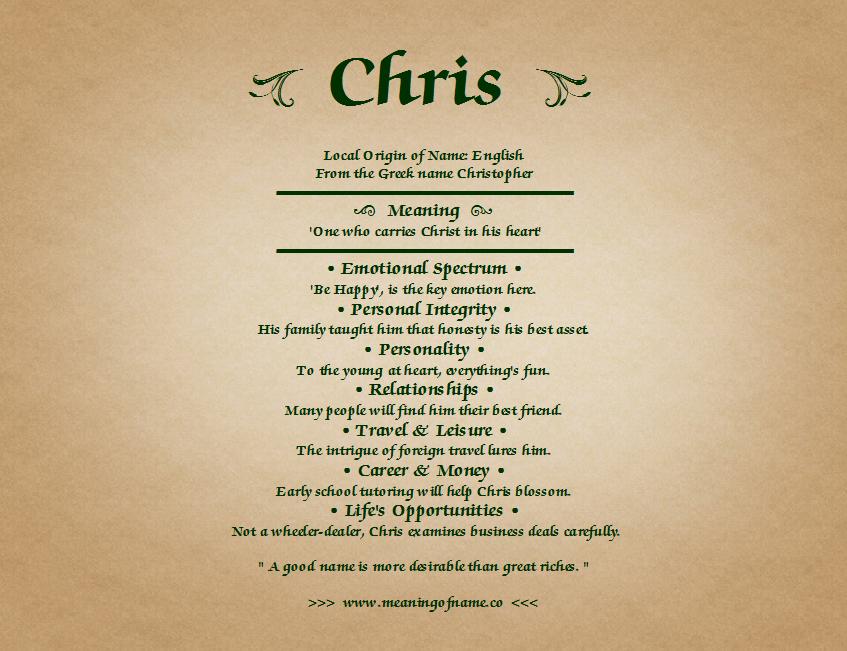 chris name - photo #20