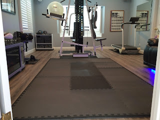Greatmats home sport and play mats foam exercise room black and grey