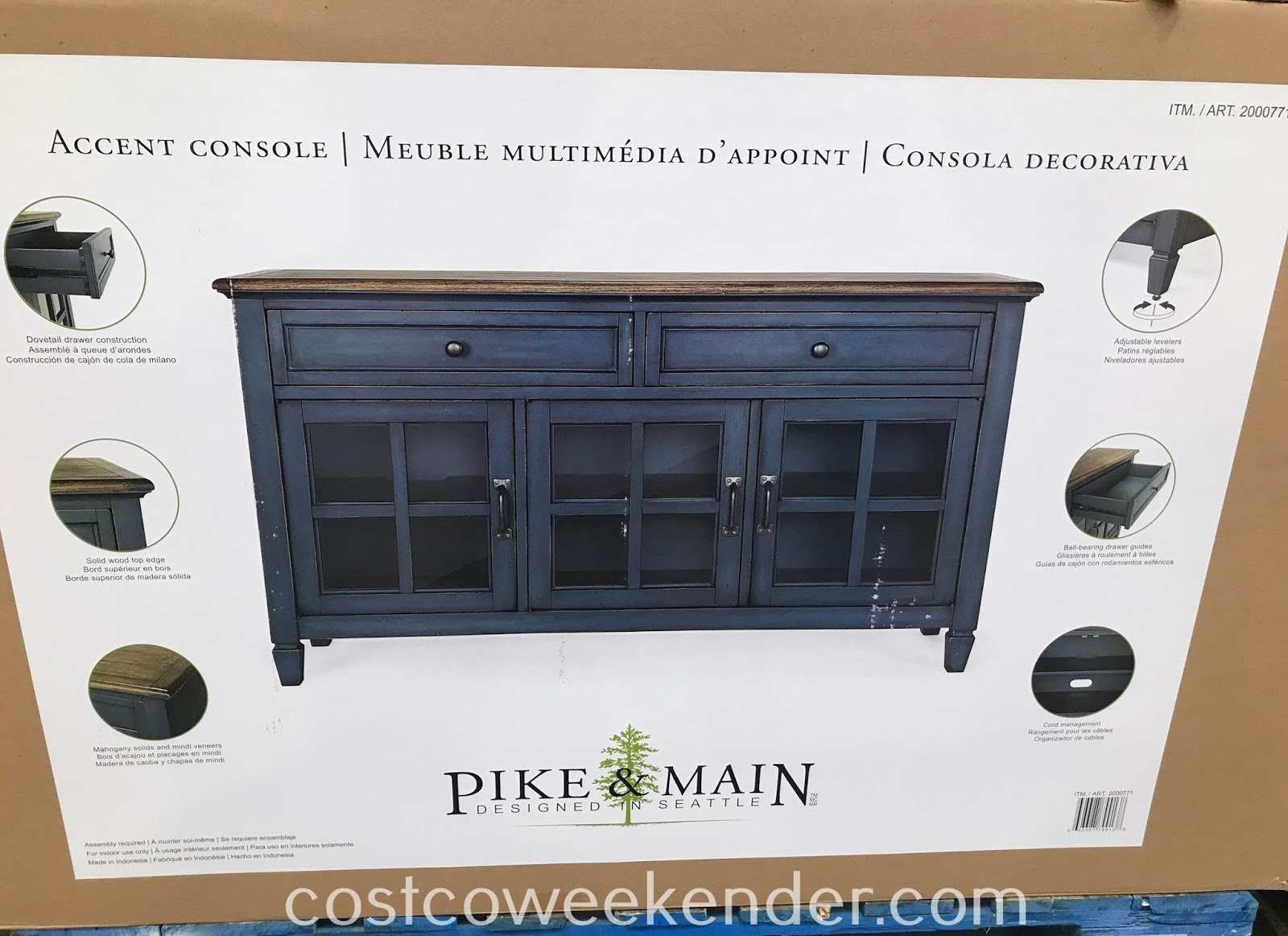 Costco 2000771 - Pike and Main Annie Accent Console: great for any home