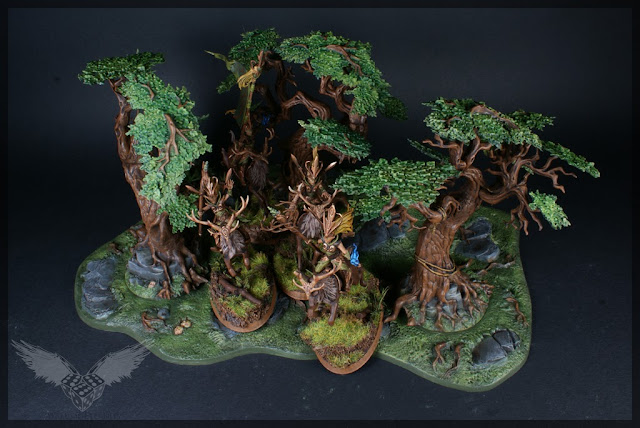 warhammer age of sigmar sylvaneth wyldwood painted forest scenery miniatures diorama 1