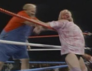 WWF / WWE WRESTLEMANIA 2 - Uncle Elmer vs. 'Adorable' Adrian Adonis..yep, this happened