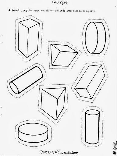 EL RINCON DE AULA: Fichas de los cuerpos geométricos.