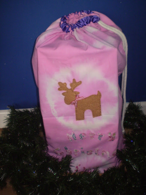 The girls had handmade Santa sacks