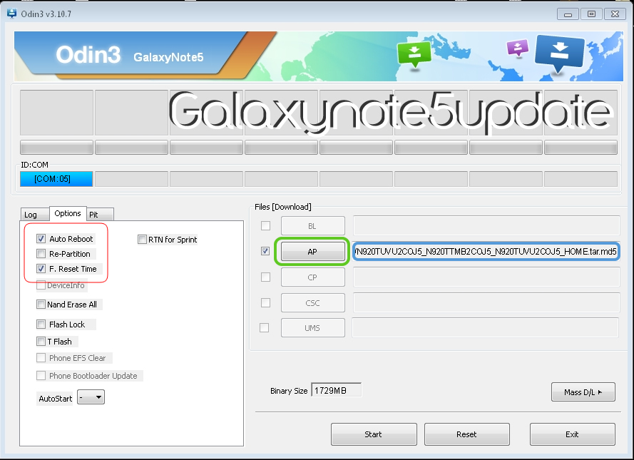 How to Install Galaxy Note 5 Factory Stock Firmware