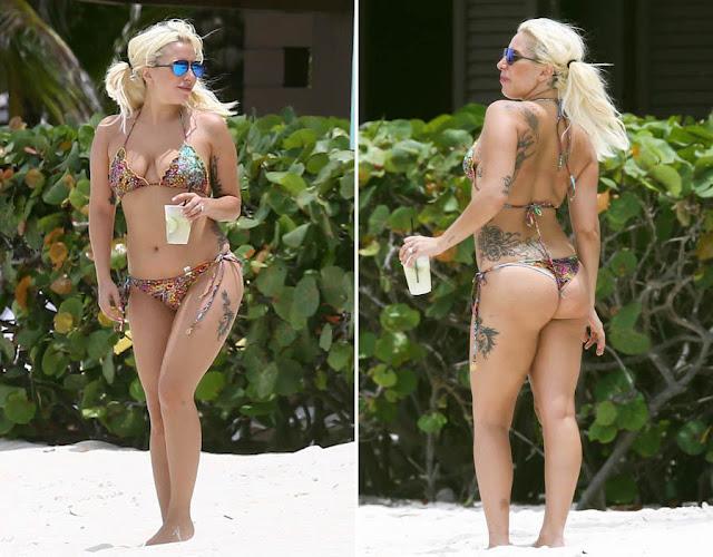 Lady Gaga compartilha foto usando máscara de beleza e óculos de sol