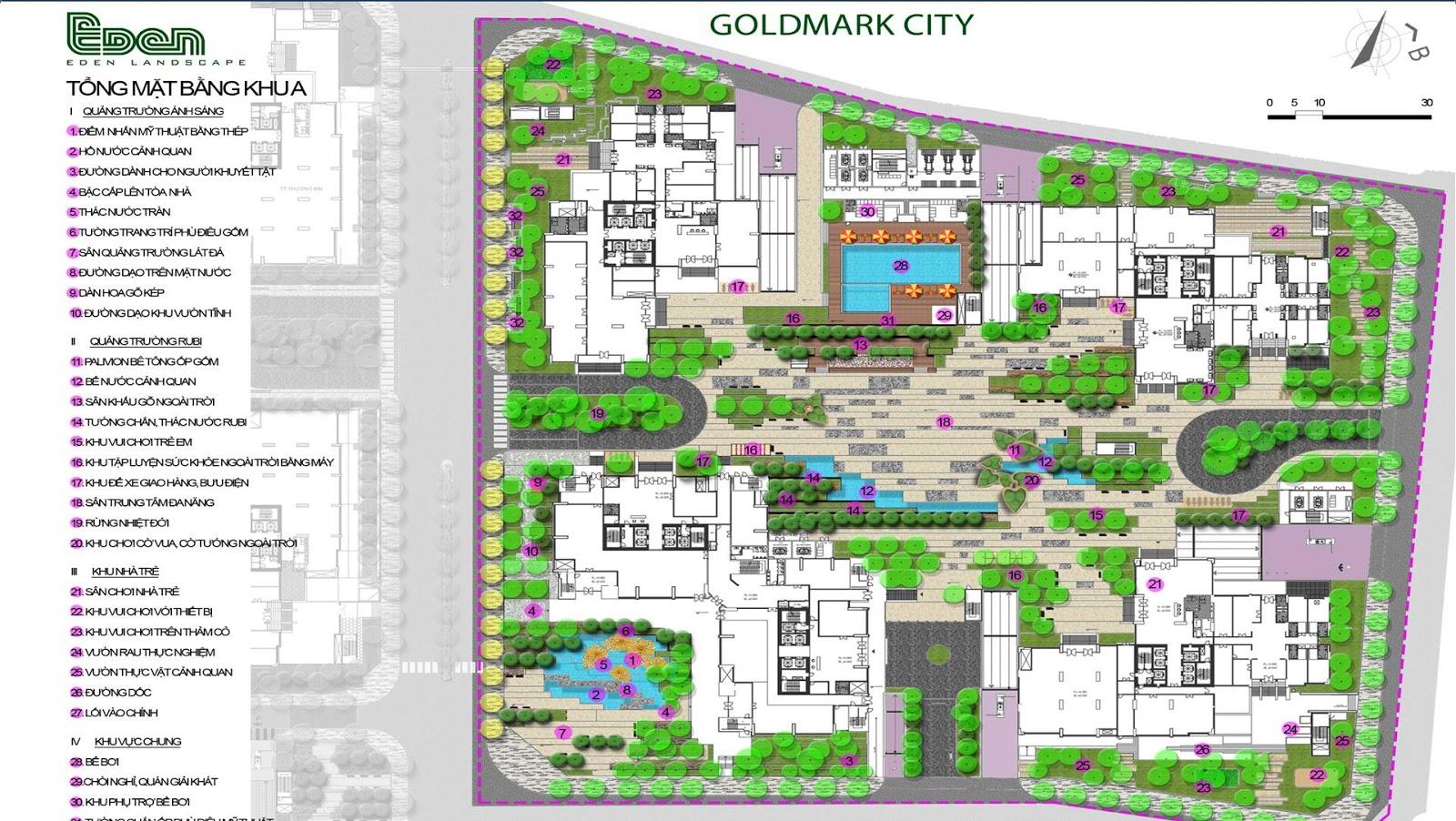 Mô hình tổng quan khu A dự án Goldmark City 136 Hồ Tùng Mậu