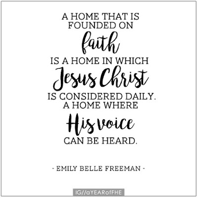 "A Year of FHE // Quote from ""The Christ Centered Home"" by Emily Belle Freeman. #lds #book #familyhomeevening #christ"