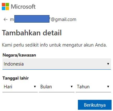 3 Cara Mudah Membuat Akun Microsoft Menggunakan HP atau Laptop
