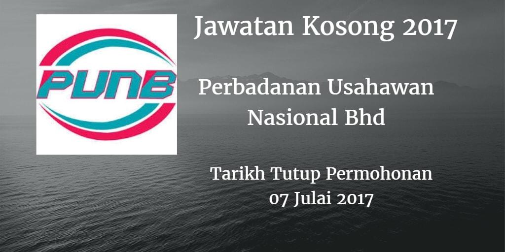 Jawatan Kosong PUNB 07 Julai 2017