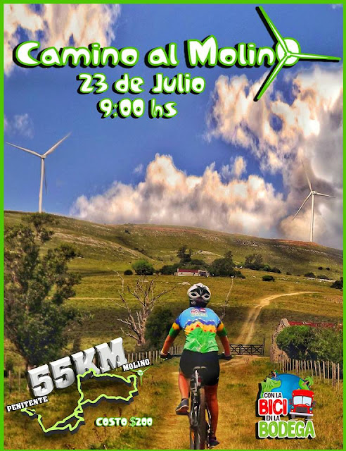 MTB - Travesía 55k Camino al Molino por Salto del penitente (Lavalleja, 23/jul/2017)