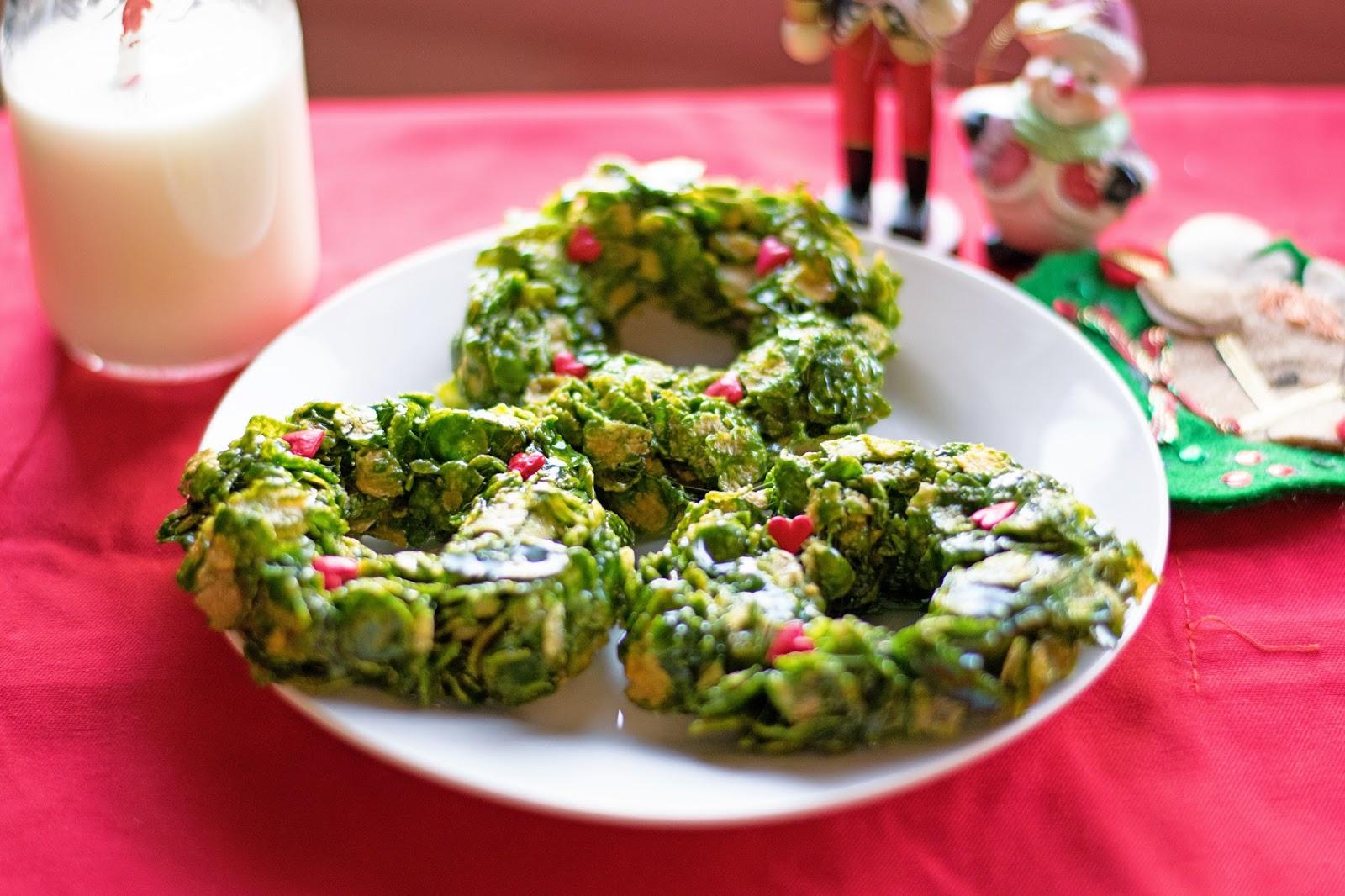 Corn Flake Wreath Cookies The Kitchen Wife
