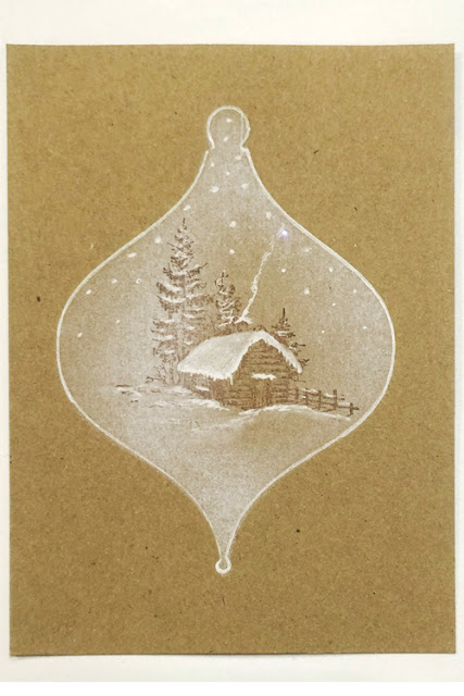 Inkylicious Winter Bauble - Faux Parchment