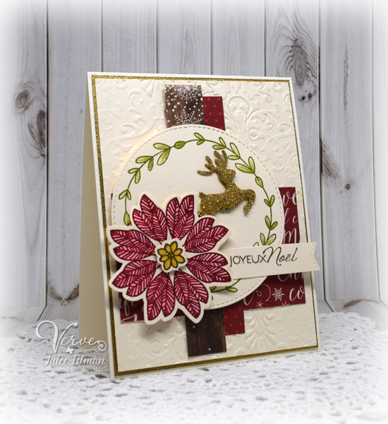 Handmade card by Julee Tilman featuring Verve Stamps.