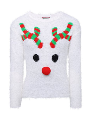 womens woolly reindeer Christmas Jumper