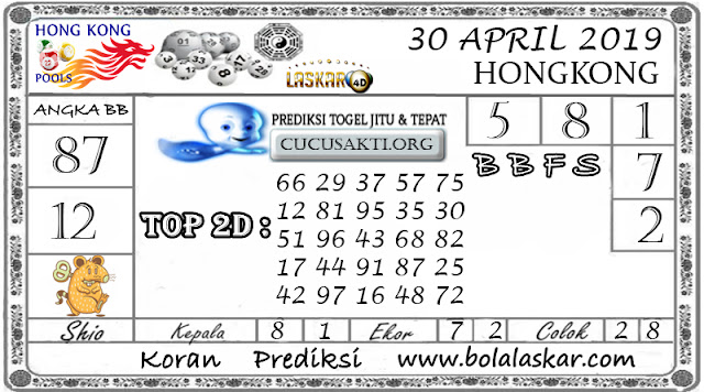 Prediksi Togel HONGKONG LASKAR4D 30 APRIL 2019