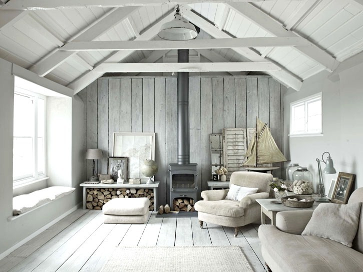 There is just something fabulously simple about a grey living room
