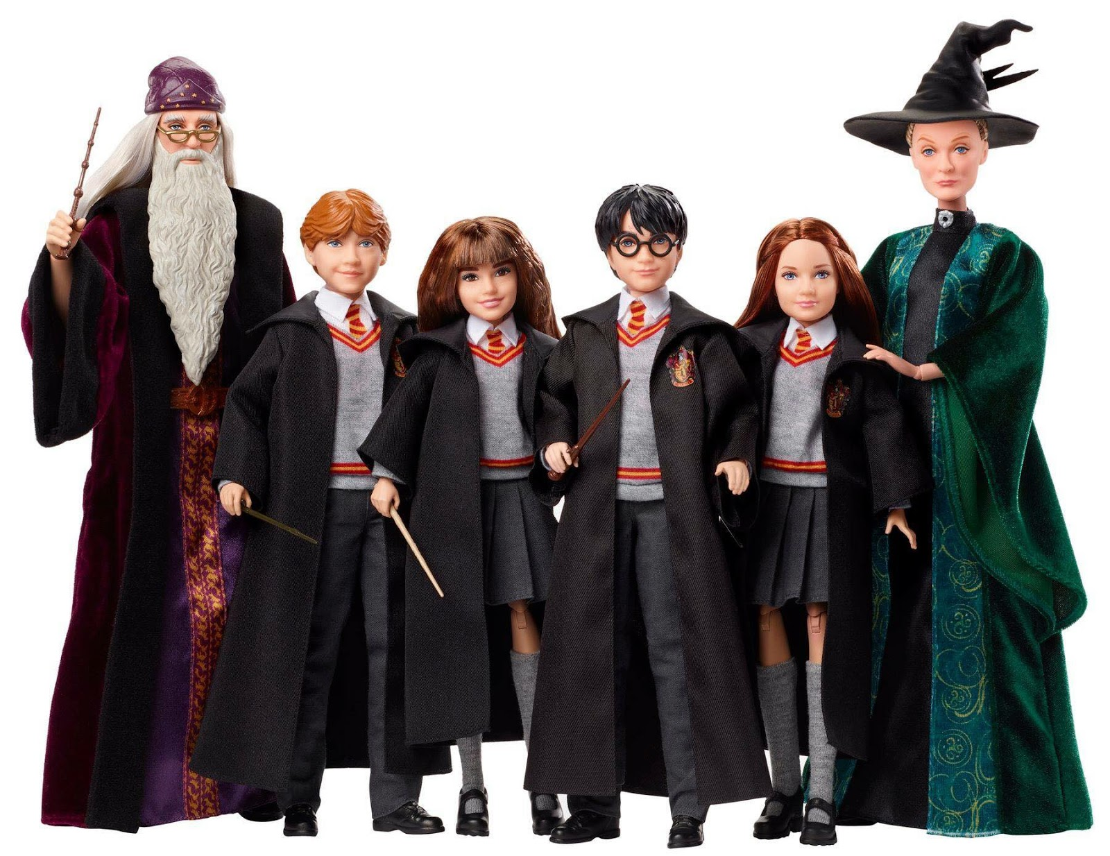 A Mattel vai lançar seis figuras de Harry Potter no estilo Barbie.