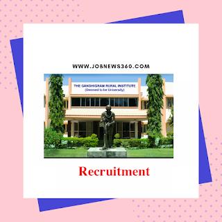 GRI Dindigul Recruitment 2019 for JRF & SRF posts