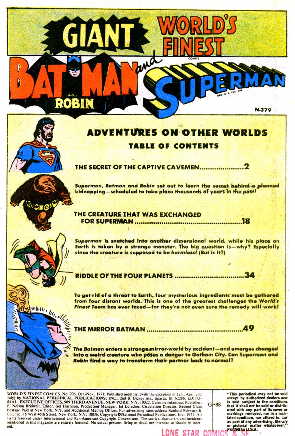 Read online World's Finest Comics comic -  Issue #206 - 2