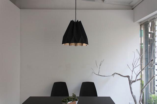 可水洗牛皮紙摺紙吊燈 Origami Paper Lamp
