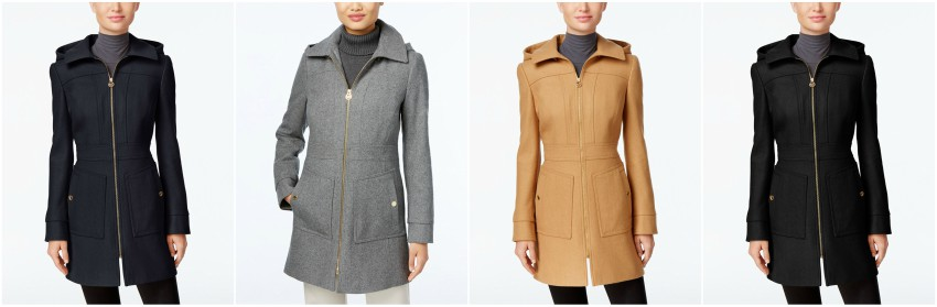 Michael Michael Kors Hooded Wool-Blend Coat $130 (reg $275)