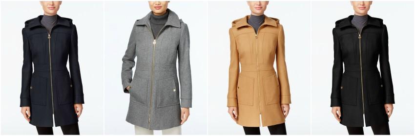 Michael Michael Kors Hooded Wool-Blend Coat $110 (reg $275)