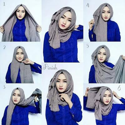 Model hijab untuk hidung pesek