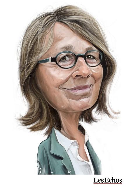 Françoise Nyssen, caricature par ioO pour Les Echos