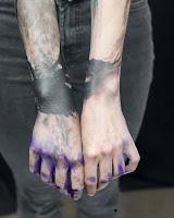 tatouage aquarelle noire