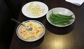 Leftovers dinner; tasty!