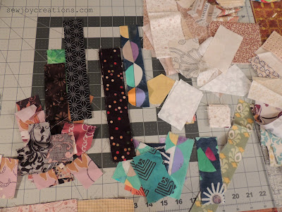thin scraps for small piecing