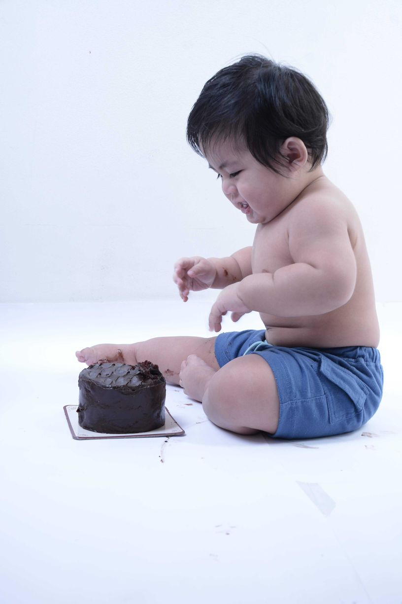Baby cake smash at Nice Print Studio