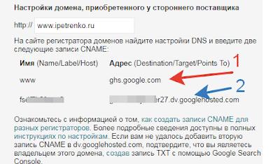 Персональный домен блоггер