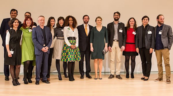 Guillaume, Hereditary Grand Duke of Luxembourg and Stéphanie, Hereditary Grand Duchess of Luxembourg attended the closing ceremony of annual contest 1,2,3 GO which supports the Social projects in Luxembourg