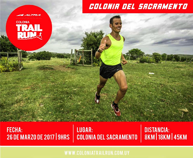 45k - 18k - 8k Colonia trail run (cross y ultra trail - Colonia del Sacramento, 26/mar/2017)