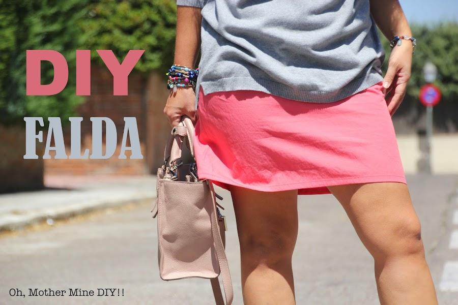 DIY Costura: Mini falda básica, muy fácil de hacer (patrón gratis). Blog costura y blog diy.