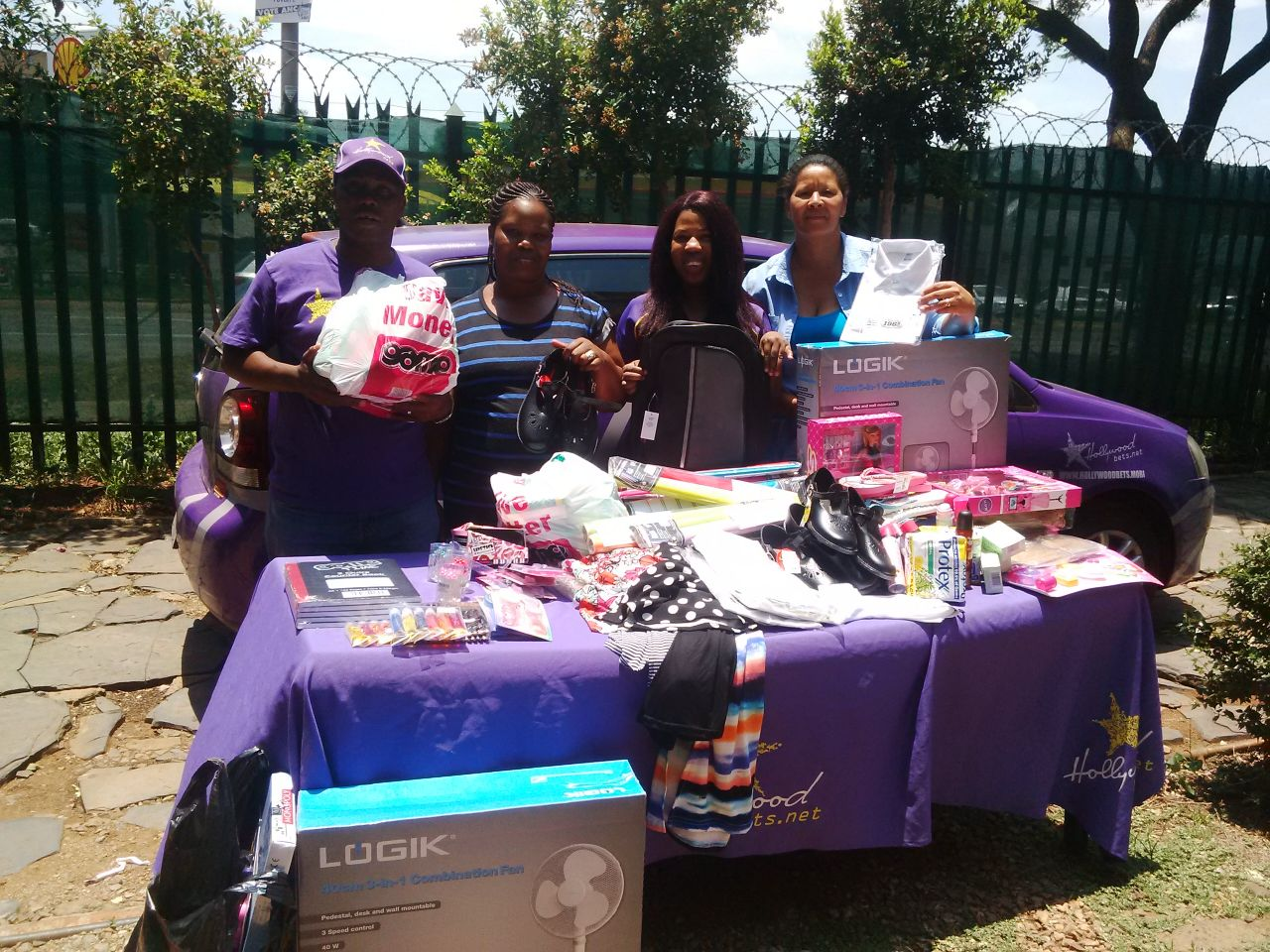 Peas in a Pod staff members are thrilled to receive clothing and appliances from Hollywoodbets Pretoria