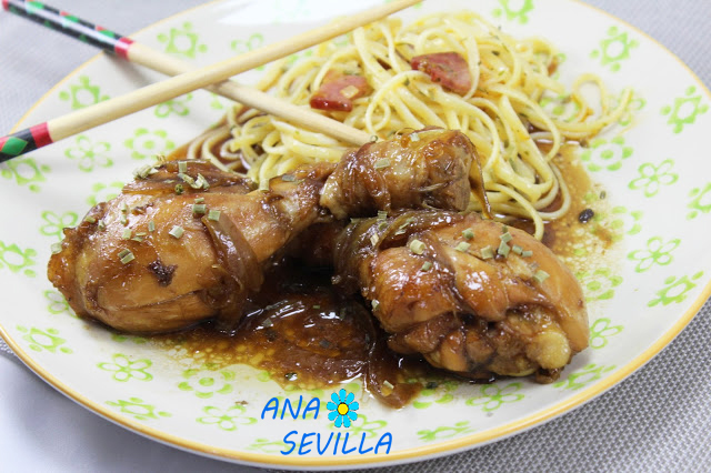 Jamoncitos de pollo teriyaki olla GM
