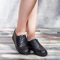Pantofi dama Tordis negri tip Oxford • modlet