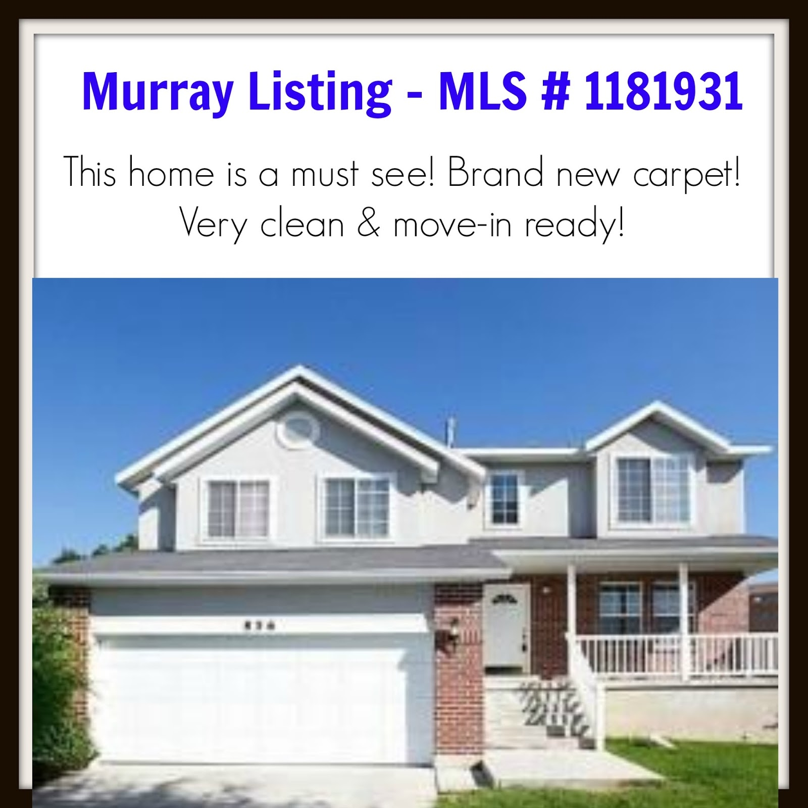 Locate Utah Homes Murray Utah 4 Bedroom Home For Sale