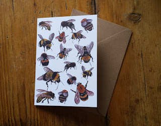 Bee card by Alice Draws The Line