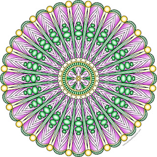 Free printable mandala to color