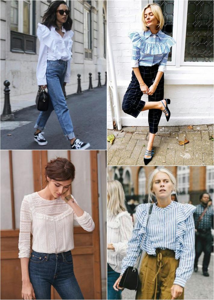 Wishlist: ruffled blouses