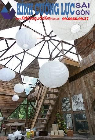Ngôi nhà kính có kiến trúc hình cầu