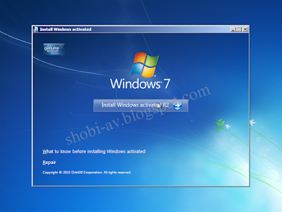 tombol install windows 7
