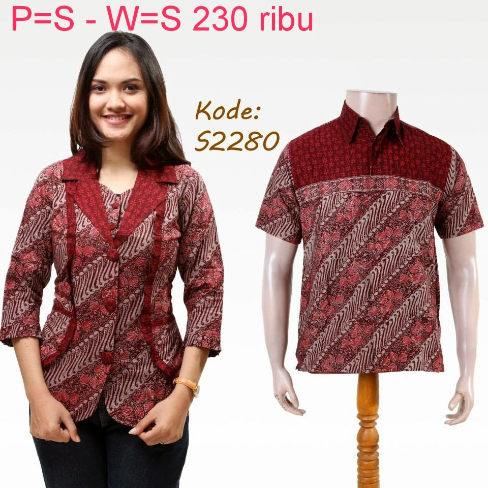Model Batik Couple Modern Terbaru Web Gugusdepan