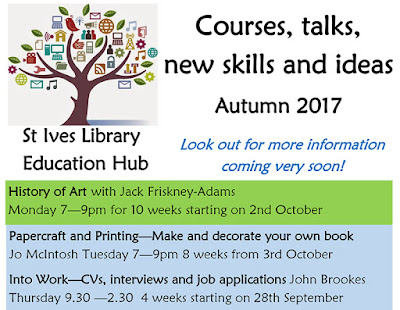 St Ives Library Education Hub - Autumn 2017