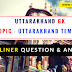 Uttarakhand GK Question And Answer ( Topic- Uttarakhand Temples )